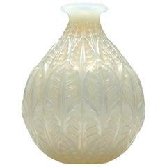 Rene Lalique Opalescent Malesherbes Vase Marcilhac No. 1014