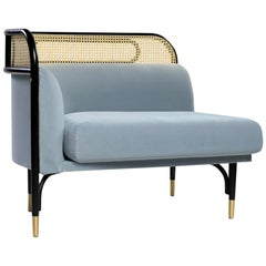 Targa Modular Sofa Right End Unit with Brass Feet by Gamfratesi & GTV