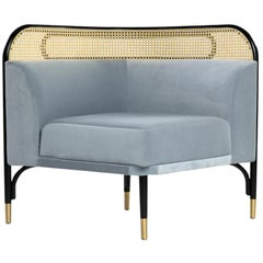 Targa Modular Sofa Corner Unit with Brass Feet by Gamfratesi & GTV