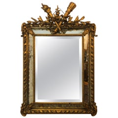 Antique French Giltwood Mirror, circa 1890-1910
