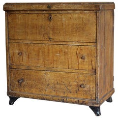 Early 19th Century Painted Swedish Commode or Trunk