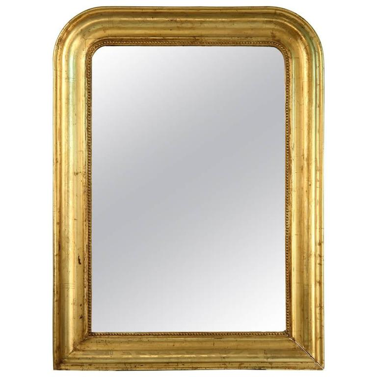 Louis Philippe Style Giltwood Mirror For Sale