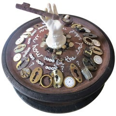 Mixed Media Tabletop Sculpture with Buddhist Message