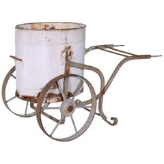 Early 20th Century Iron and Zinc French Water Barrow