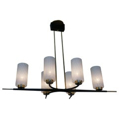 Arlus Midcentury Six-Light Chandelier
