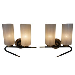 Pair of Midcentury Wall Sconces by Maison Arlus