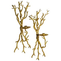 "Italian Midcentury Pair of ""Branch"" Sconces"