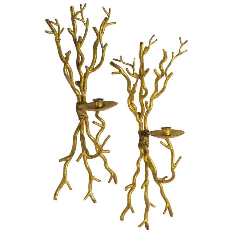 "Italian Midcentury Pair of ""Branch"" Sconces"