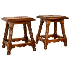 Pair of 19th Century French Stools