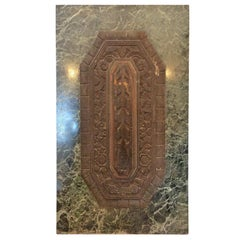 Deco Marble and Bronze Plaque