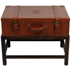 Late 20th Century Italian Traveling Case on Stand