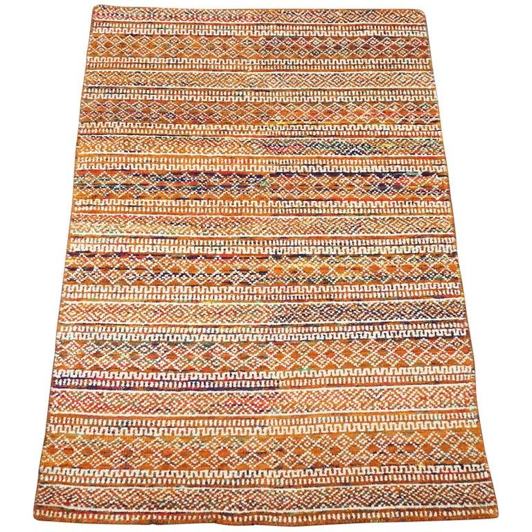 Multicolored Bamboo Silk Area Rug For