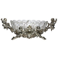 French 19th-20th Century Louis XV Style Silvered Christofle & Cie Centrepiece