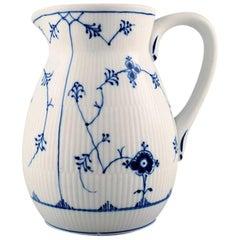 Bing & Grondahl, B&G blue fluted pitcher, Hotel/Restaurant Porcelain