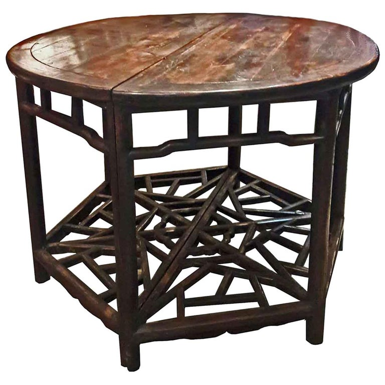 Cypresswood Demi-Lune Tables, Suzhou, Early 19th Century