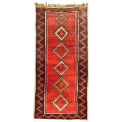 Long Vintage Moroccan Berber Rug Tribal Morocco Antique Rugs and Carpets