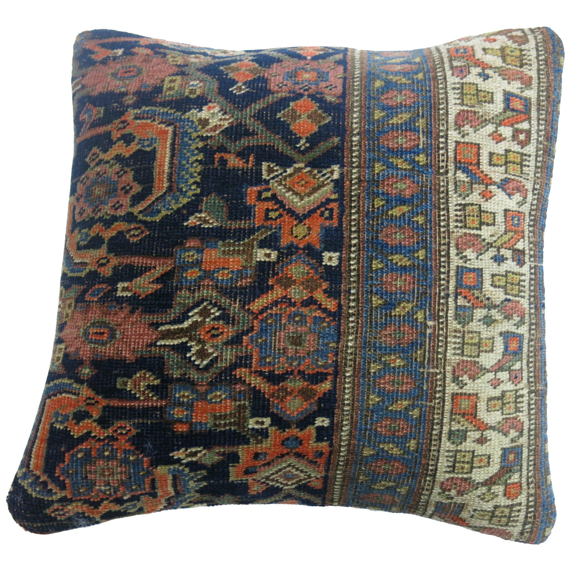 Antique Persian Bidjar Rug Pillow