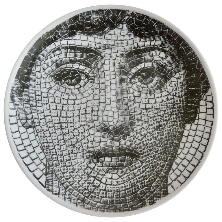 1950s Fornasetti Roman Mosaic Face Plate, Tema e Variazioni N131