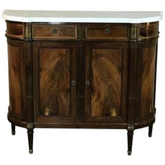 19th Century French Louis XVI Style Marble-Top Buffet