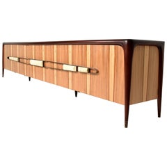 Mexican Modernist Long Credenza Attributed to Eugenio Escudero