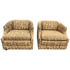 "Pair of Bernhardt ""Flair"" Club Chairs"