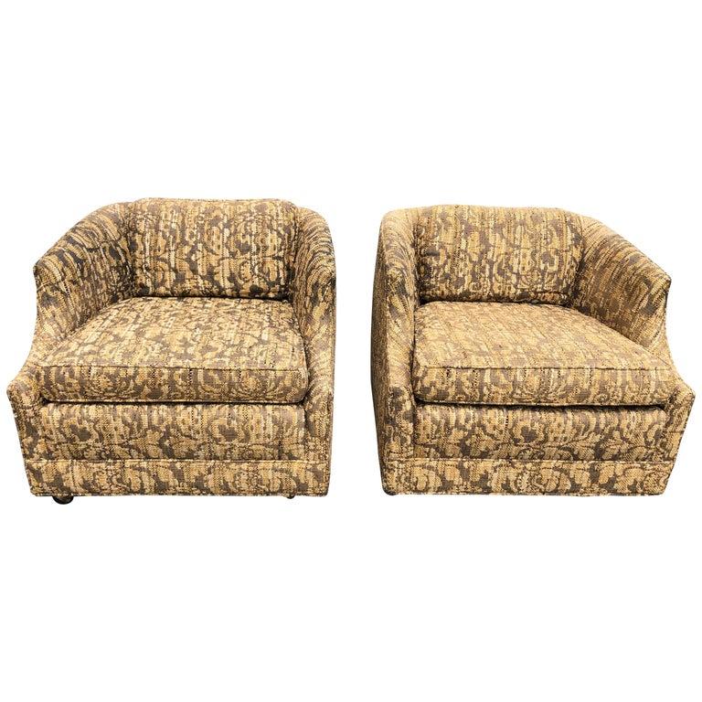"""Pair of Bernhardt """"Flair"""" Club Chairs"""