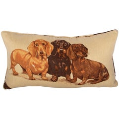 Dachshund Pillow-Down Filled