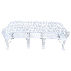 Extra Large Neoclassical Floral Garden Bench