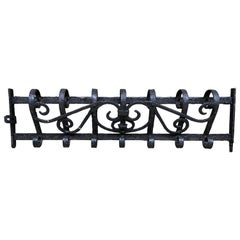 Wrought Iron Antique Wall Mount Coat Rack