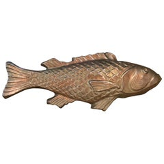Huge Copper Mold of Fish