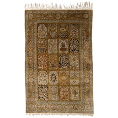 Extra Fine Persian Silk Qum Rug, Hand-Knotted, with Tree of Life Design