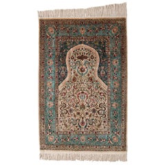 Hereke Rug, a Silk Prayer Rug from Turkey