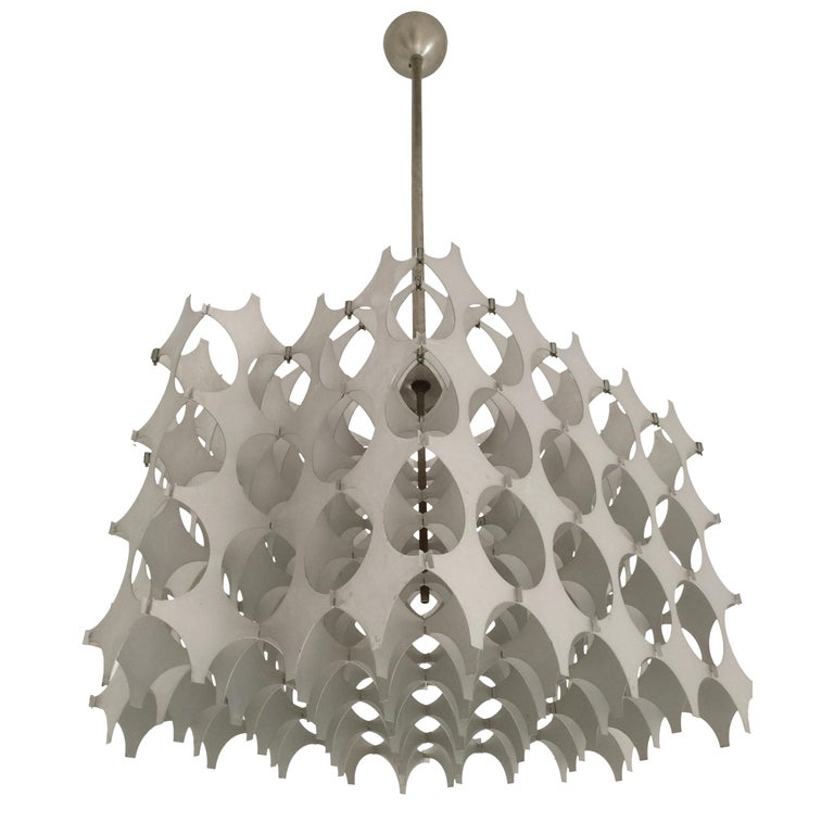 Mario Marenco Italian Sculptural Cynthia Pendant Lamp for Artemide, 1968