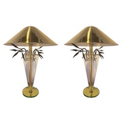 Pair of Table Lamps Made of Metal