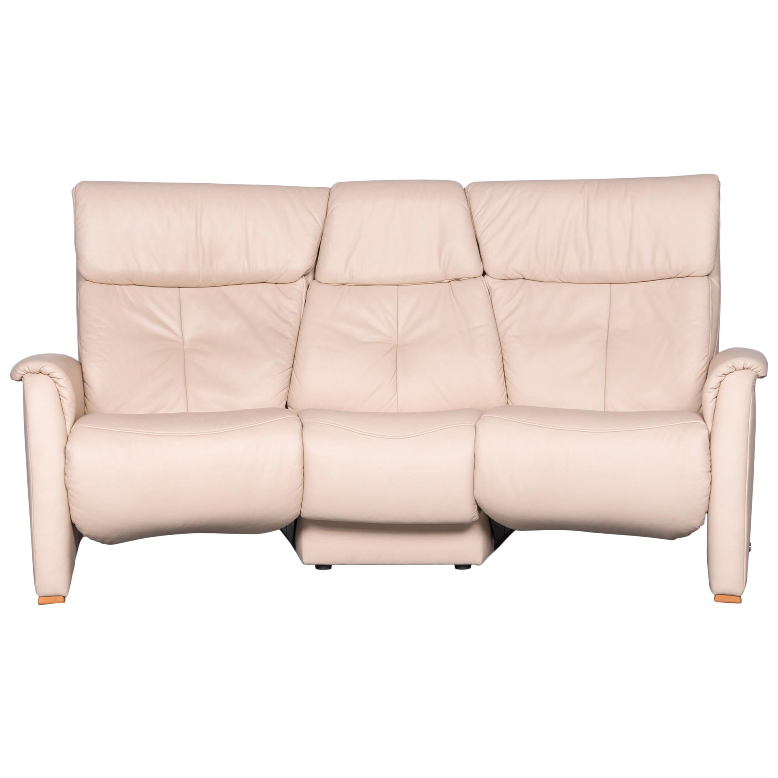 himolla trapez sofa off-white three-seat couch recliner XT3R4JPB
