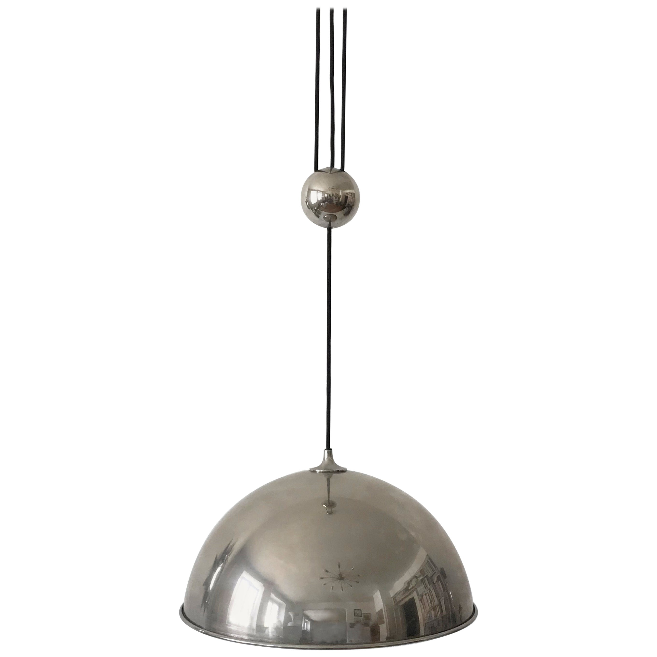 Elegant Counter Balance Pendant Lamp by Florian Schulz, Germany, 1980s