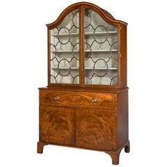 George III Period Mahogany Secretaire Bookcase