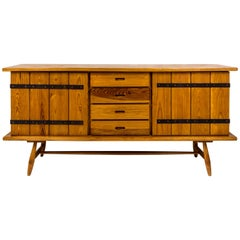 Pinewood Sideboard, circa 1960, France