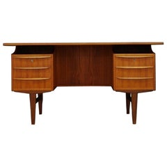 Classic Writing Desk Danish Design Teak