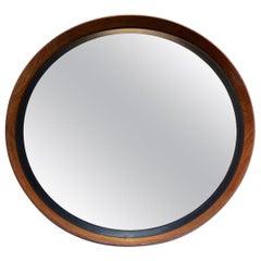 Uno & Östen Kristiansson Teak Mirror by Luxus in Sweden