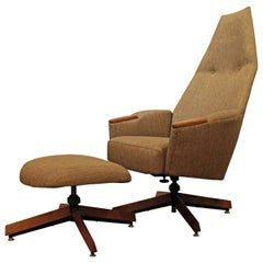 Mid-Century Modern Adrian Pearsall Lounge Chair and Ottoman 2174C