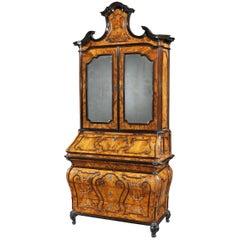 18th Century Italian Walnut Lombardy Bureau Cabinet
