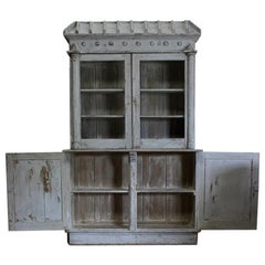 19th Century Painted Display Cabinet