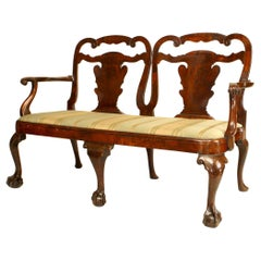 English Chippendale Style '18-19th Century' Double Chair Back Loveseat