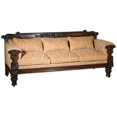 English Early 19th Century Regency Country House Sofa Designed by John Taylor