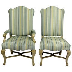 Set of Two 20th Century Hand-Carved Chairs