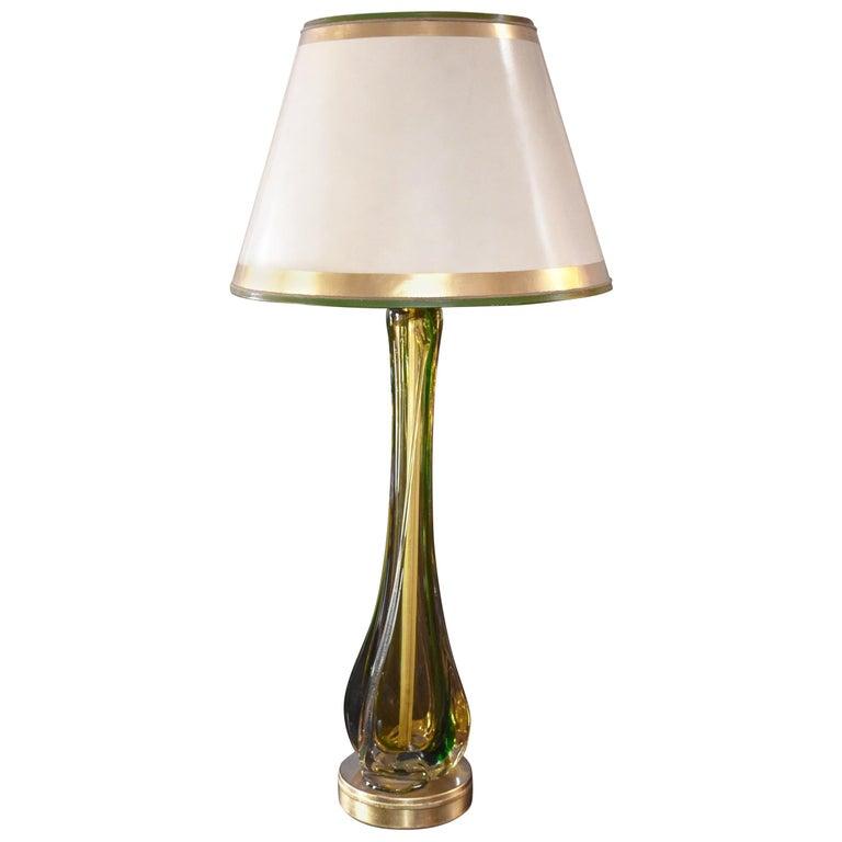 Italian 1960s Seguso Vetri d'Arte Table Lamp