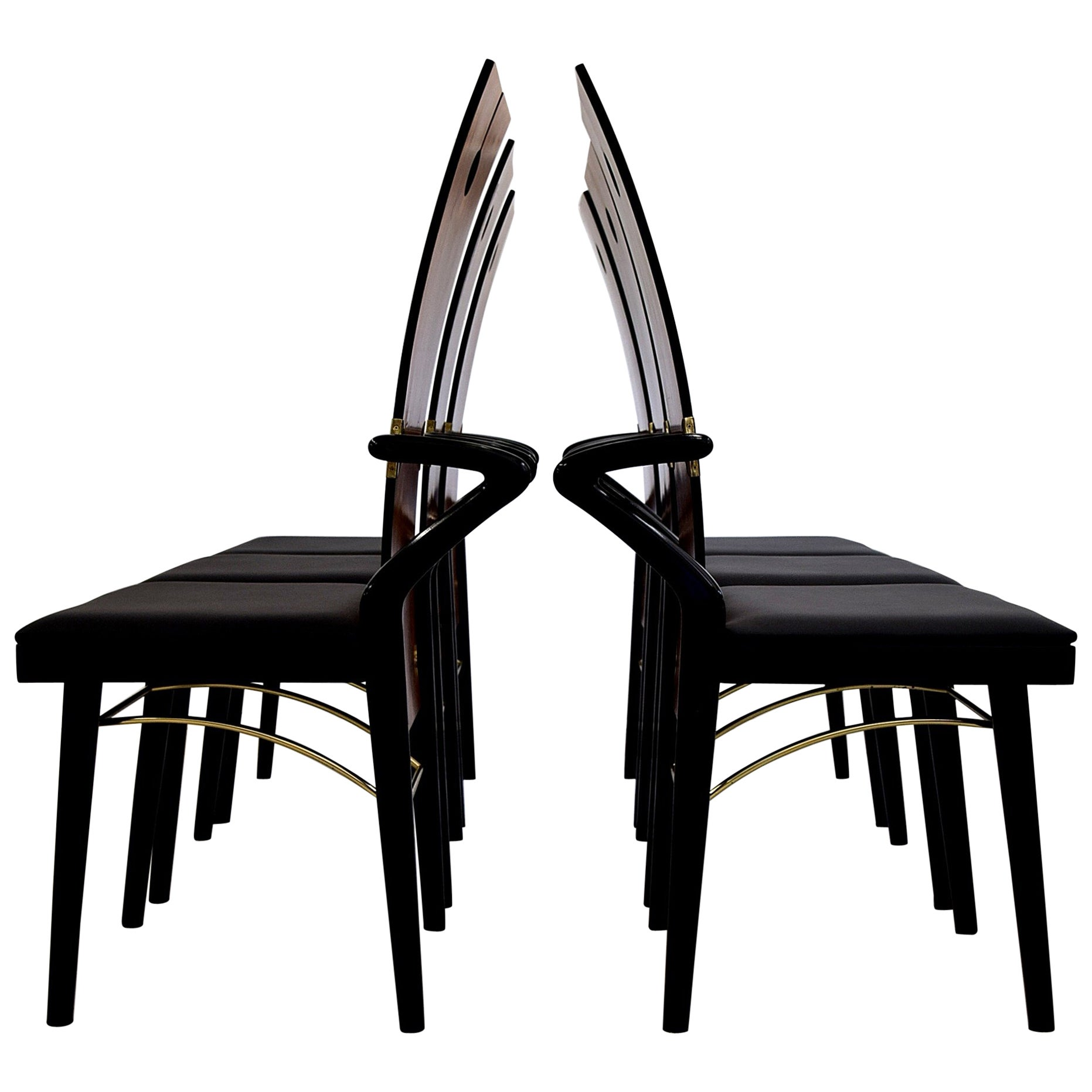 Pierre Cardin Hollywood Regency Dining Chairs