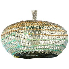 Unqiue Coastal Pendant from Portuguese Lobster Traps