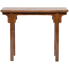 19th Century Chinese Round Leg Console Table